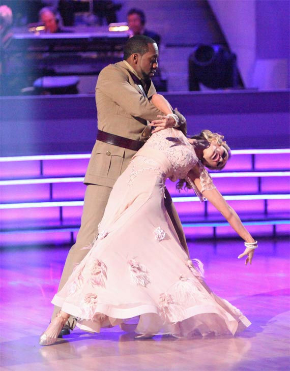 Jaleel White, who played Steve Urkel on 'Family Matters,' and his partner Kym Johnson received 24 out of 30 points from the judges for their Viennese Waltz on week 7 of 'Dancing With The Stars,' which aired on Monday, April 30, 2012.