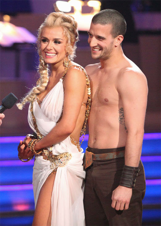 "<div class=""meta ""><span class=""caption-text "">Classical singer Katherine Jenkins and her partner Mark Ballas received 27 out of 30 points from the judges for their Rumba on week seven of 'Dancing With The Stars,' which aired on Monday, April 30, 2012. (ABC Photo)</span></div>"