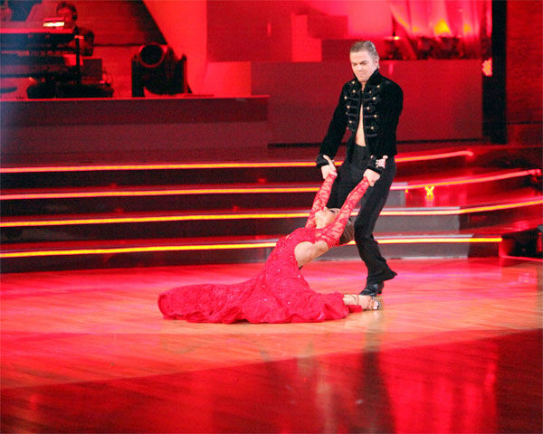 TV personality Maria Menounos and her partner Derek Hough received 30 out of 30 points from the judges for their Paso Doble on week 7 of &#39;Dancing With The Stars,&#39; which aired on Monday, April 30, 2012. <span class=meta>(ABC Photo&#47; Adam Taylor)</span>