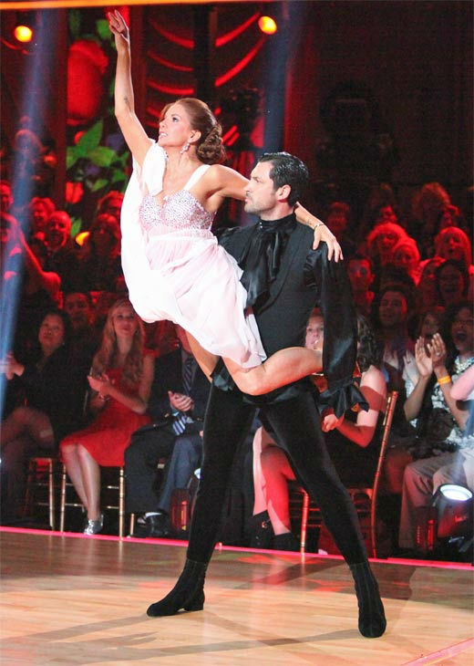 Melissa Gilbert, a former child star who played Laura on &#39;Little House on the Prairie,&#39; and her partner Maksim Chmerkovskiy received 21 out of 30 points from the judges for their Argentine Tango on week 7 of &#39;Dancing With The Stars,&#39; which aired on Monday, April 30, 2012. <span class=meta>(ABC Photo&#47; Adam Taylor)</span>