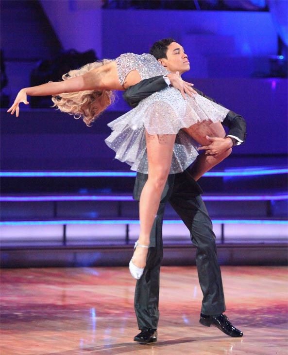 Disney Channel star Roshon Fegan and his partner Chelsie Hightower received 25 out of 30 points from the judges for their Argentine Tango on week 7 of 'Dancing With The Stars,' which aired on Monday, April 30, 2012.