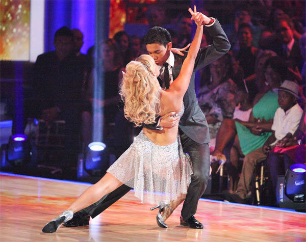 Disney Channel star Roshon Fegan and his partner Chelsie Hightower received 25 out of 30 points from the judges for their Argentine Tango on week 7 of &#39;Dancing With The Stars,&#39; which aired on Monday, April 30, 2012. <span class=meta>(ABC Photo&#47; Adam Taylor)</span>