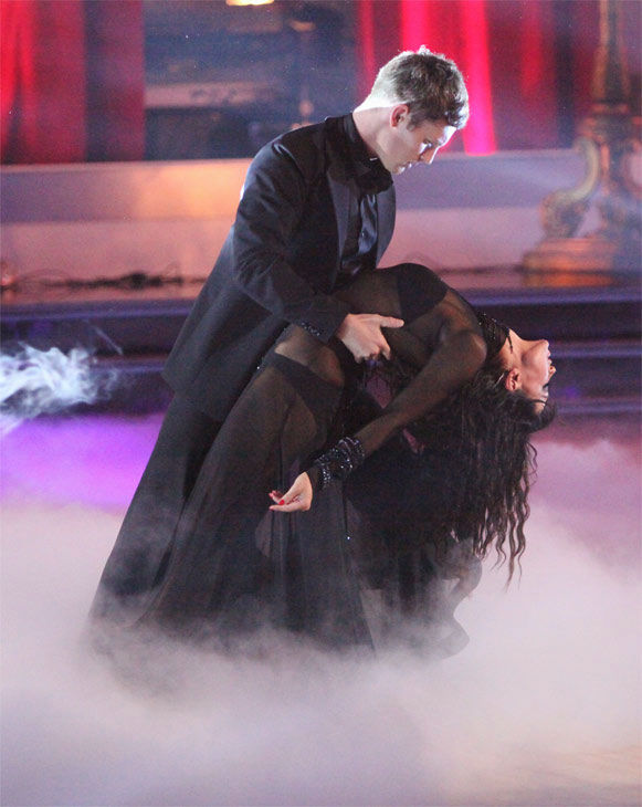 "<div class=""meta ""><span class=""caption-text "">Soprano prodigy Jackie Evancho performed 'Dark Waltz' during a pro dance performance with Tristan MacManus and Karina Smirnoff (pictured) on 'Dancing With The Stars' on Monday, April 30, 2012. (ABC Photo/ Adam Taylor)</span></div>"