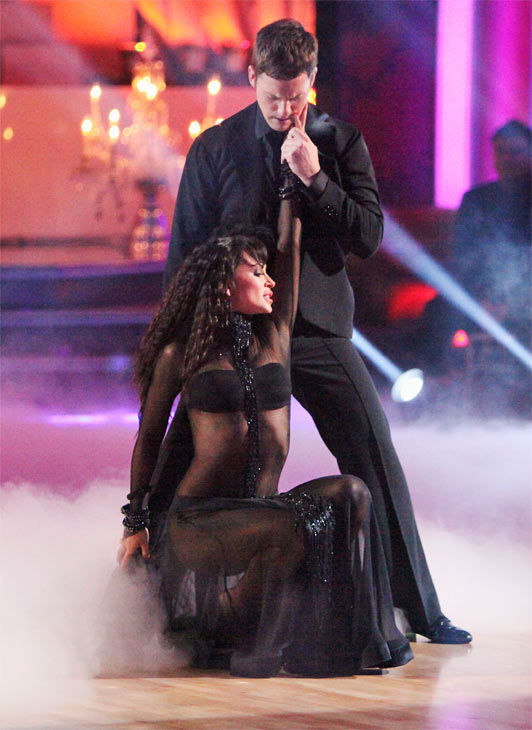 Professional dancers Tristan MacManus and Karina...