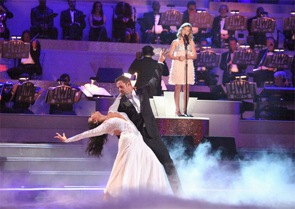 Telenovela star William Levy and his partner Cheryl Burke received 27 out of 30 points from the judges for their Viennese Waltz on week 7 of &#39;Dancing With The Stars,&#39; which aired on Monday, April 30, 2012. <span class=meta>(ABC Photo&#47; Adam Taylor)</span>