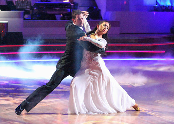 "<div class=""meta ""><span class=""caption-text "">Telenovela star William Levy and his partner Cheryl Burke received 27 out of 30 points from the judges for their Viennese Waltz on week 7 of 'Dancing With The Stars,' which aired on Monday, April 30, 2012. (ABC Photo/ Adam Taylor)</span></div>"
