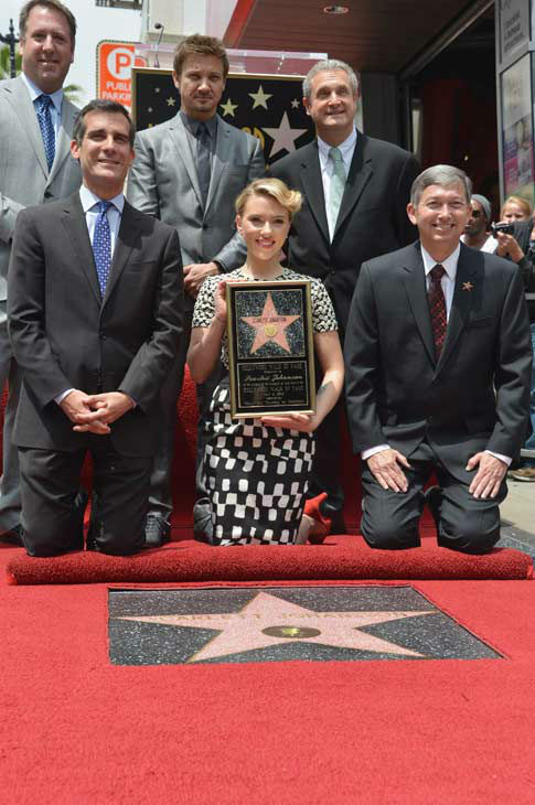 "<div class=""meta ""><span class=""caption-text "">Scarlett Johansson of ""Marvel's The Avengers"" is honored on the Hollywood Walk of Fame on May 2, 2012 in Hollywood, California. (Alberto E. Rodriguez/WireImage)</span></div>"