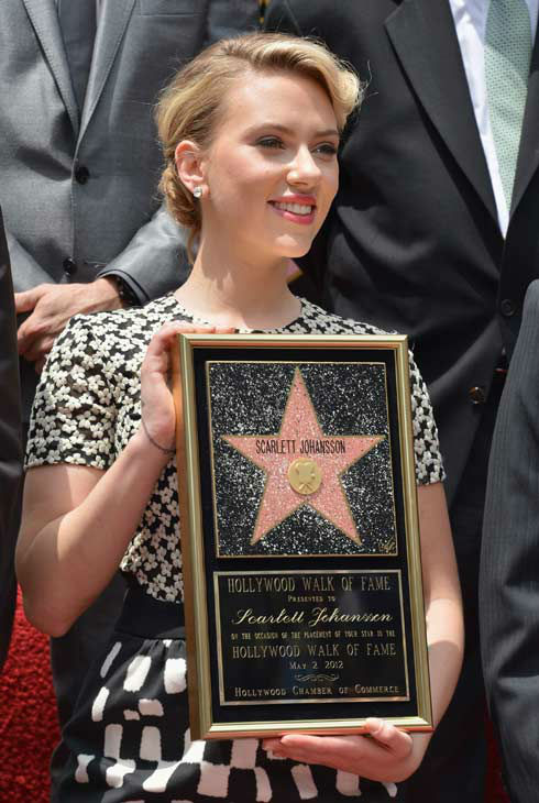 Scarlett Johansson is honored on the Hollywood Walk of Fame on May 2, 2012 in Hollywood, California.   <span class=meta>(Alberto E. Rodriguez&#47;WireImage)</span>