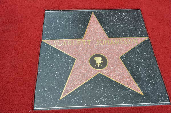 Scarlett Johansson is honored on the Hollywood...