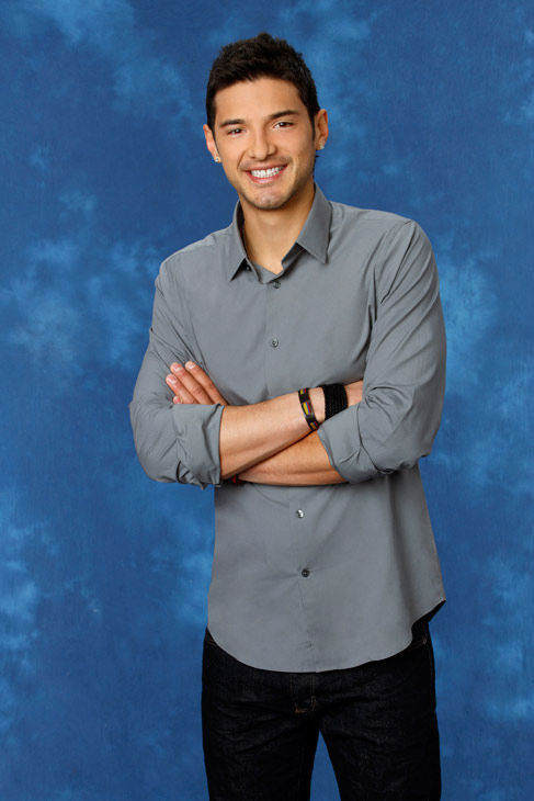 Alejadro, 25, a mushroom farmer from Medellin, Colombia, appears in a promotional photo for the eight season of 'The Bachelorette,' which features Emily Maynard and premieres