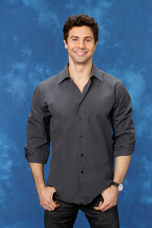 David, 33, a singer/songwriter from Charlottesville, Virginia, appears in a promotional photo for the eight season of 'The Bachelorette,' which feature