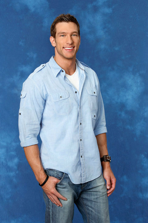 Jackson, 29, a fitness model from Chicago, Illinois, appears in a promotional photo for the eight season of 'The Bachelorette,' which features Emily Maynard and premieres on