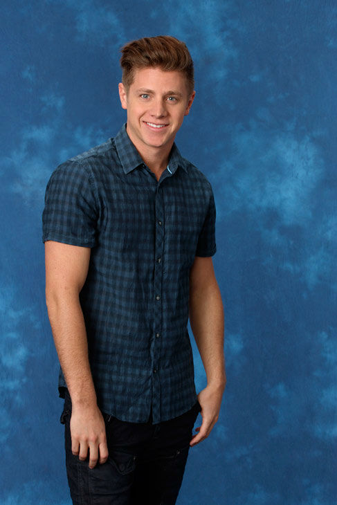Jef, 27, an entrepreneur from St. George, Utah, appears in a promotional photo for the eight season of 'The Bachelorette,' which features Emily Maynard and premieres on