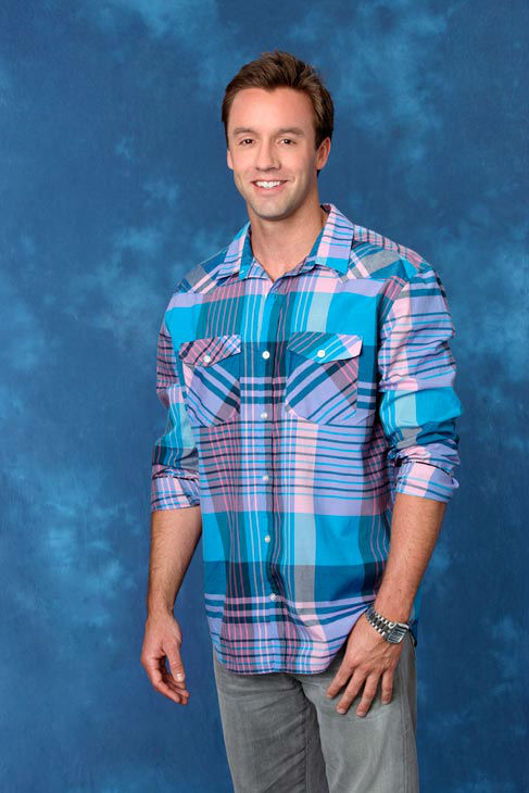 Kyle, 29, a financial advisor from Long Beach, California, appears in a promotional photo for the eight season of 'The Bachelorette,' which
