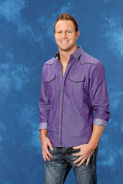 Travis, 30, an advertising sales rep from Madison, Mississippi, appears in a promotional photo for the eight season of 'The Bachelorette,' which features Emily M