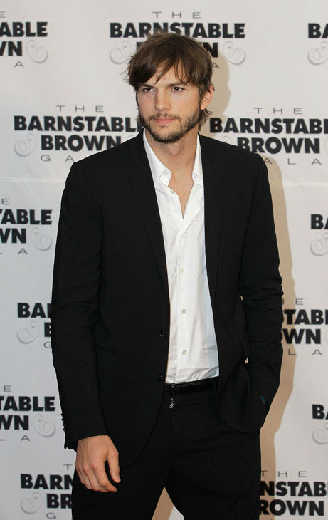 Ashton Kutcher arrives at the Barnstable Brown Derby party Friday, May 4, 2012, in Louisville, Ky.  <span class=meta>(AP Photo&#47; Darron Cummings)</span>