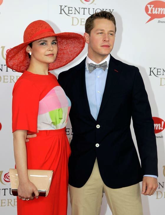 Actress Ginnifer Goodwin arrives with Josh Dallas for the 138th Kentucky Derby horse race at Churchill Downs Saturday, May 5, 2012, in Louisville, Ky.  <span class=meta>(AP Photo&#47; Darron Cummings)</span>