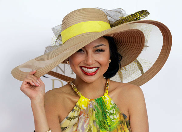 Jeannie Mai , host of Style Network&#39;s &#39;How Do I Look?&#39; arrives the 138th Kentucky Derby horse race at Churchill Downs Saturday, May 5, 2012, in Louisville, Ky.  <span class=meta>(AP Photo&#47; Darron Cummings)</span>
