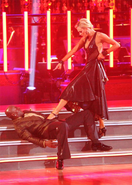 Football star Donald Driver and his partner Peta Murgatroyd received 27 out of 30 points from the judges for their Tango on week eight of 'Dancing With The Stars,' which aired on Monday, May 7, 2012.
