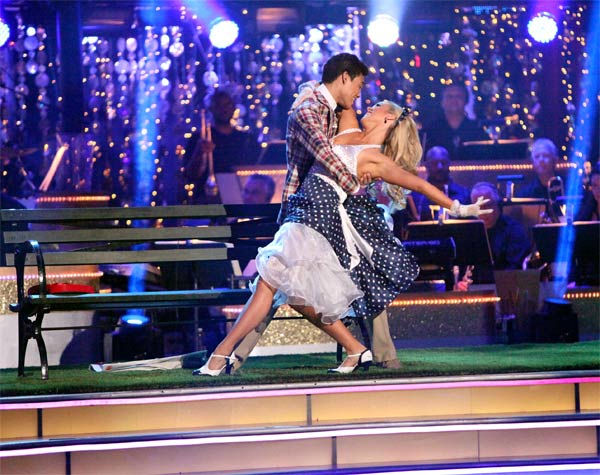 "<div class=""meta ""><span class=""caption-text "">Disney Channel star Roshon Fegan and his partner Chelsie Hightower received 29 out of 30 points from the judges for their Fox Trot on week eight of 'Dancing With The Stars,' which aired on Monday, May 7, 2012. (ABC Photo/ Adam Taylor)</span></div>"
