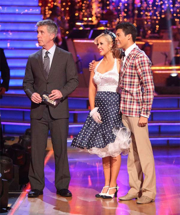 Disney Channel star Roshon Fegan and his partner Chelsie Hightower received 29 out of 30 points from the judges for their Fox Trot on week eight of &#39;Dancing With The Stars,&#39; which aired on Monday, May 7, 2012. <span class=meta>(ABC Photo&#47; Adam Taylor)</span>