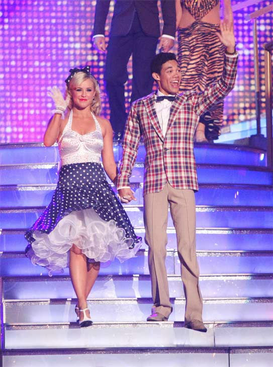 Disney Channel star Roshon Fegan and his partner Chelsie Hightower received 29 out of 30 points from the judges for their Fox Trot on week eight of 'Dancing With The Stars,' which aired on Monday, May 7, 2012.