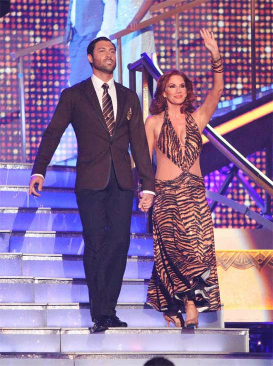 Actress Melissa Gilbert and her partner Maksim Chmerkovskiy received 24 out of 30 points from the judges for their Fox Trot on week eight of 'Dancing With The Stars,' which aired on Monday, May 7, 2012.