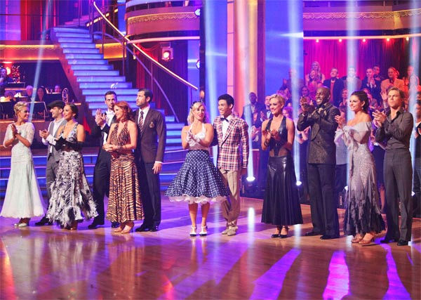 The remaining six couples appeared on week eight...