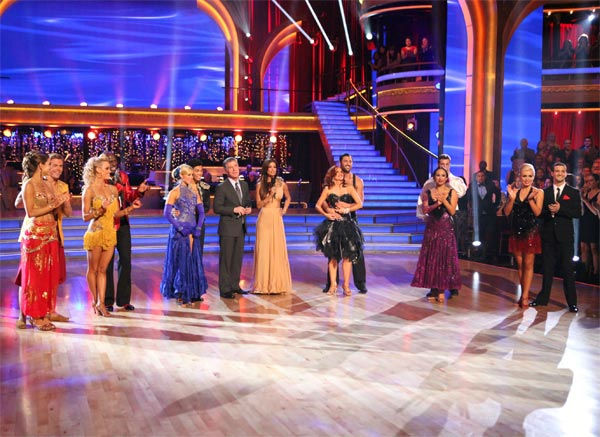 The remaining six couples and hosts appeared on week eight of 'Dancing With The Stars,' which aired on Monday, May 7, 2012.