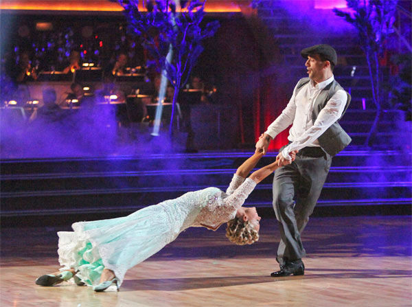 "<div class=""meta ""><span class=""caption-text "">Classical singer Katherine Jenkins and her partner Mark Ballas received 26 out of 30 points from the judges for their Viennese Waltz on week eight of 'Dancing With The Stars,' which aired on Monday, May 7, 2012. (ABC Photo/ Adam Taylor)</span></div>"