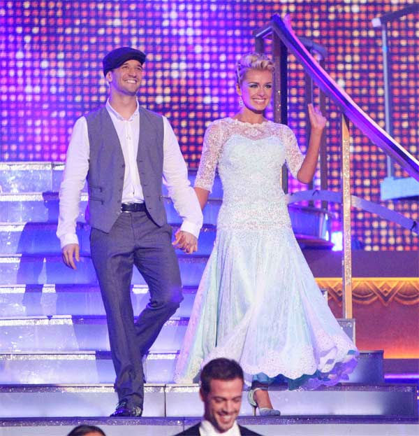 Classical singer Katherine Jenkins and her partner Mark Ballas received 26 out of 30 points from the judges for their Viennese Waltz on week eight of &#39;Dancing With The Stars,&#39; which aired on Monday, May 7, 2012. <span class=meta>(ABC Photo)</span>