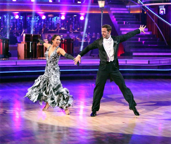 Telenovela star William Levy and his partner Cheryl Burke received 30 out of 30 points from the judges for their Fox Trot on week eight of &#39;Dancing With The Stars,&#39; which aired on Monday, May 7, 2012. <span class=meta>(ABC Photo)</span>
