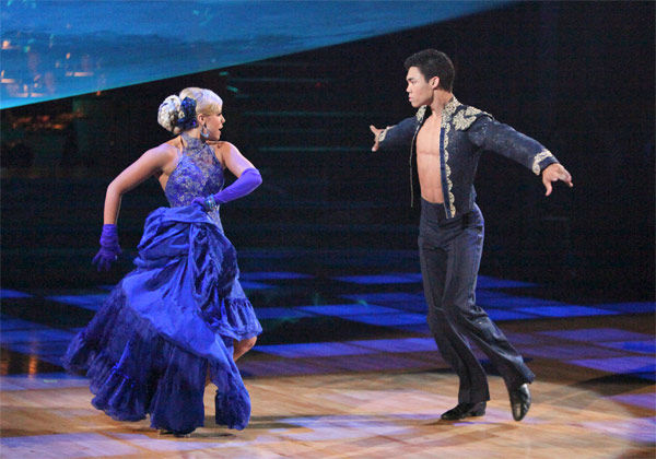 Disney Channel star Roshon Fegan and his partner Chelsie Hightower, along with guest dancer Sasha Farber, received 27 out of 30 points from the judges for their &#39;Trio&#39; Paso Doble on week eight of &#39;Dancing With The Stars,&#39; which aired on Monday, May 7, 2012. His total score was 56 out of 60 points. <span class=meta>(ABC Photo&#47; Adam Taylor)</span>