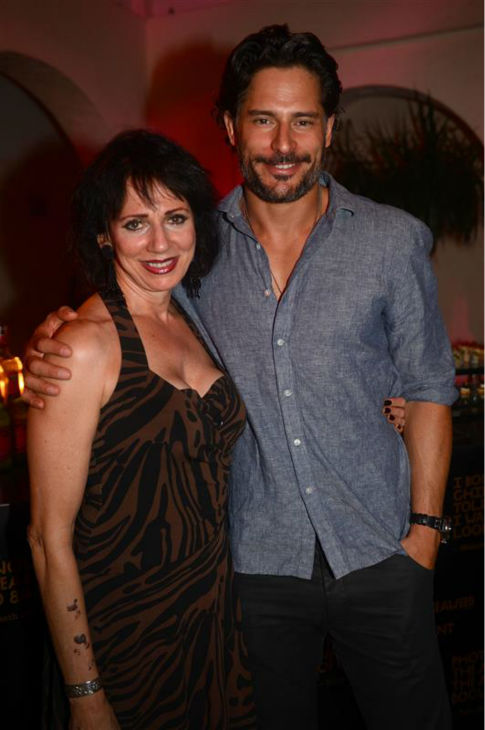 The &#39;Hi-Mom!&#39; stare: Joe Manganiello appears with his mother Susan at the launch of Vault magazine, presented by Bacardi, at the Villa in Miami Beach, Florida on May 11, 2012. <span class=meta>(Seth Browarnik &#47; Startraksphoto.com)</span>