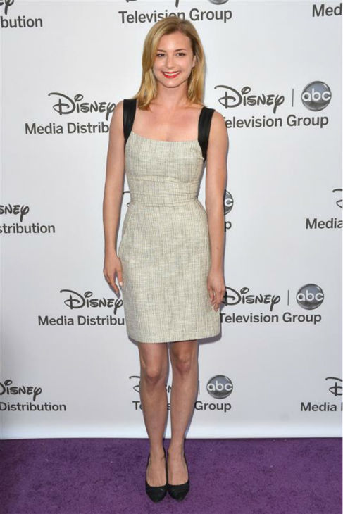 "<div class=""meta ""><span class=""caption-text ""> Emily VanCamp of ABC's 'Revenge' appears at Disney Media Networks International's Upfronts event at the Walt Disney Studios Lot in Burbank, California on May 20, 2012. The Walt Disney Company owns ABC (and OTRC.com).  (Tony DiMaio / Startraksphoto.com)</span></div>"