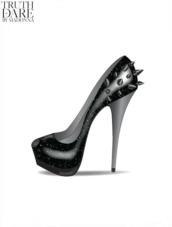 A sketch from Madonna's Truth or Dare footwear...