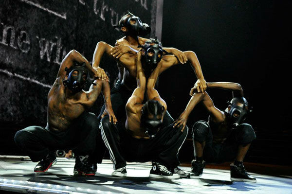 Several performers appear in a photo from a rehearsal for Madonna's Tel Aviv performance, the first stop on her 'MDNA' tour which launched on May 31, 2012.