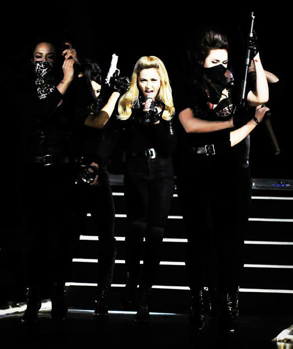 Madonna appears in a photo from a rehearsal for her Tel Aviv performance, the first stop on her &#39;MDNA&#39; tour which launched on May 31, 2012. <span class=meta>(Facebook.com&#47;madonna)</span>