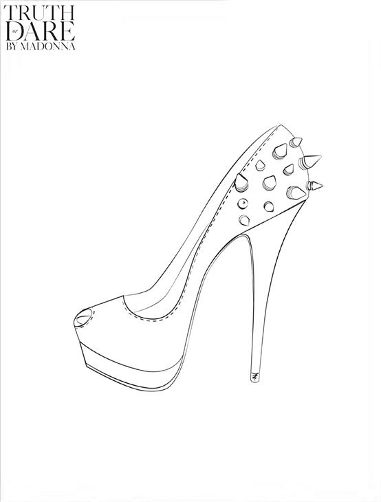 A sketch from Madonna&#39;s Truth or Dare footwear line, which will debut at the singer&#39;s &#39;MDNA&#39; tour. <span class=meta>(Iconix)</span>