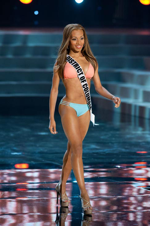 Miss District of Columbia poses in a bikini during the Miss USA Presentation Show on May 30 from the Planet Hollywood Resort in Las Vegas, Nevada. The 2012 MISS USA Pageant will air live on NBC June 3 at 9:00 p.m. ET from the Theatre for Performing Arts.