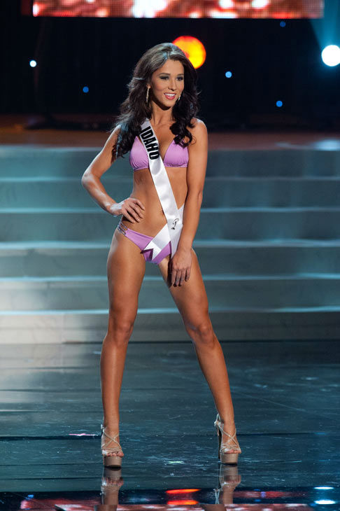 "<div class=""meta ""><span class=""caption-text "">Miss Idaho poses in a bikini during the Miss USA Presentation Show on May 30 from the Planet Hollywood Resort in Las Vegas, Nevada. The 2012 MISS USA Pageant will air live on NBC June 3 at 9:00 p.m. ET from the Theatre for Performing Arts. (Miss USA / Darren Decker)</span></div>"