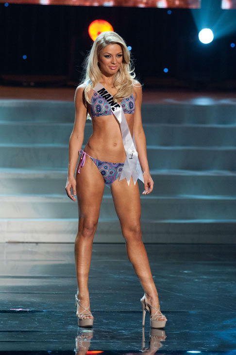 Miss Maine poses in a bikini during the Miss USA...