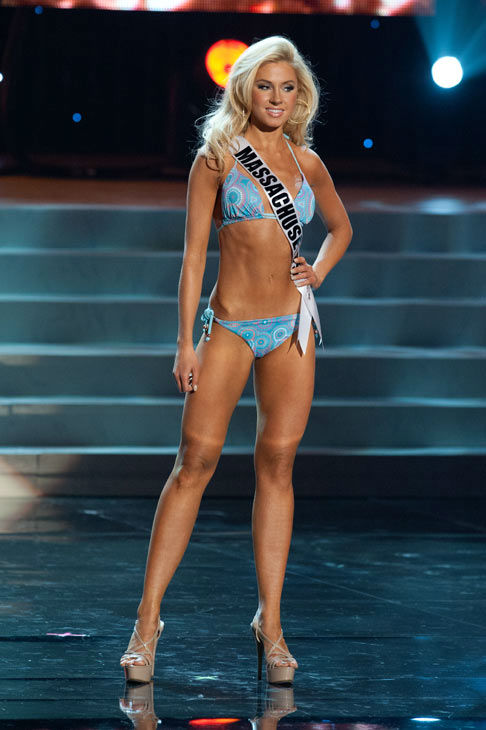 Miss Massachusetts poses in a bikini during the Miss USA Presentation Show on May 30 from the Planet Hollywood Resort in Las Vegas, Nevada. The 2012 MISS USA Pageant will air live on NBC June 3 at 9:00 p.m. ET from the Theatre for Performing Arts. <span class=meta>(Miss USA &#47; Darren Decker)</span>