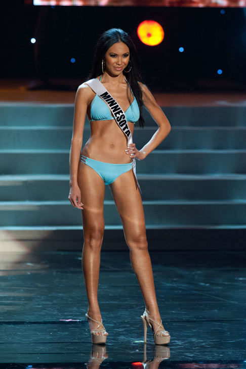 "<div class=""meta ""><span class=""caption-text "">Miss Minnesota poses in a bikini during the Miss USA Presentation Show on May 30 from the Planet Hollywood Resort in Las Vegas, Nevada. The 2012 MISS USA Pageant will air live on NBC June 3 at 9:00 p.m. ET from the Theatre for Performing Arts. (Miss USA / Darren Decker)</span></div>"