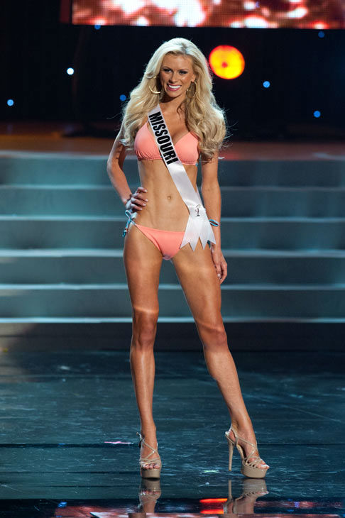 Miss Missouri poses in a bikini during the Miss...