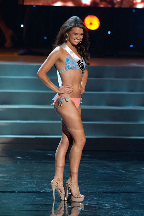 "<div class=""meta ""><span class=""caption-text "">Miss Nebraska poses in a bikini during the Miss USA Presentation Show on May 30 from the Planet Hollywood Resort in Las Vegas, Nevada. The 2012 MISS USA Pageant will air live on NBC June 3 at 9:00 p.m. ET from the Theatre for Performing Arts. (Miss USA / Darren Decker)</span></div>"