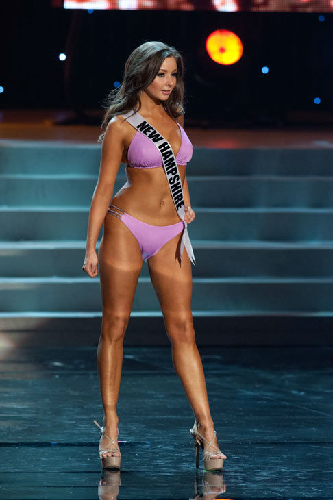 Miss New Hampshire poses in a bikini during the Miss USA Presentation Show on May 30 from the Planet Hollywood Resort in Las Vegas, Nevada. The 2012 MISS USA Pageant will air live on NBC June 3 at 9:00 p.m. ET from the Theatre for Performing Arts. <span class=meta>(Miss USA &#47; Darren Decker)</span>