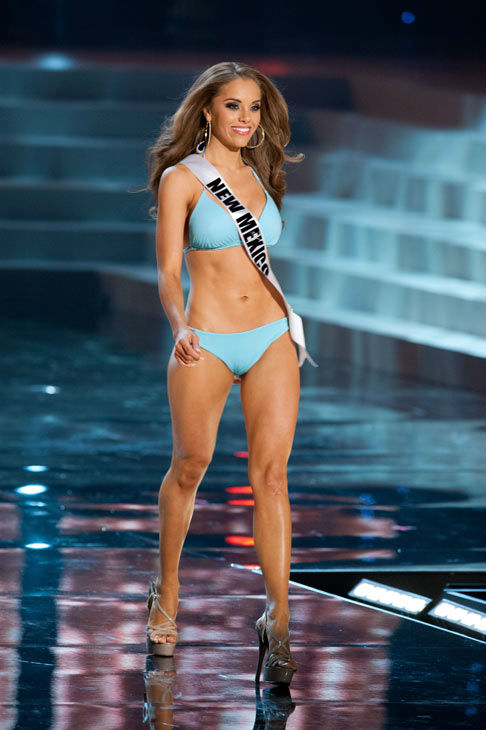 Miss New Mexico poses in a bikini during the Miss USA Presentation Show on May 30 from the Planet Hollywood Resort in Las Vegas, Nevada. The 2012 MISS USA Pageant will air live on NBC June 3 at 9:00 p.m. ET from the Theatre for Performing Arts. <span class=meta>(Miss USA &#47; Darren Decker)</span>