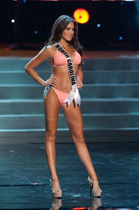 Miss North Carolina poses in a bikini during the Miss USA Presentation Show on May 30 from the Planet Hollywood Resort in Las Vegas, Nevada. The 2012 MISS USA Pageant will air live on NBC June 3 at 9:00 p.m. ET from the Theatre for Performing Arts. <span class=meta>(Miss USA &#47; Darren Decker)</span>