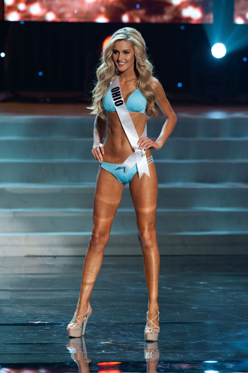 Miss Ohio poses in a bikini during the Miss USA...